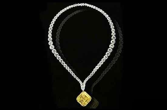 گردنبند الماس زرد لویو (Leviev)