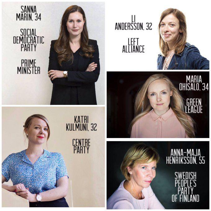 حکومتی کاملا زنانه در فنلاند(+عکس)