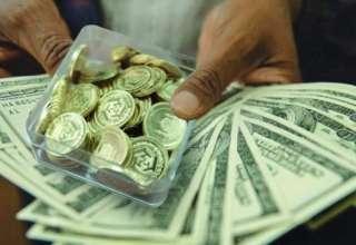 نرخ ارزهای عمده و سکه در بازار نزولی شد