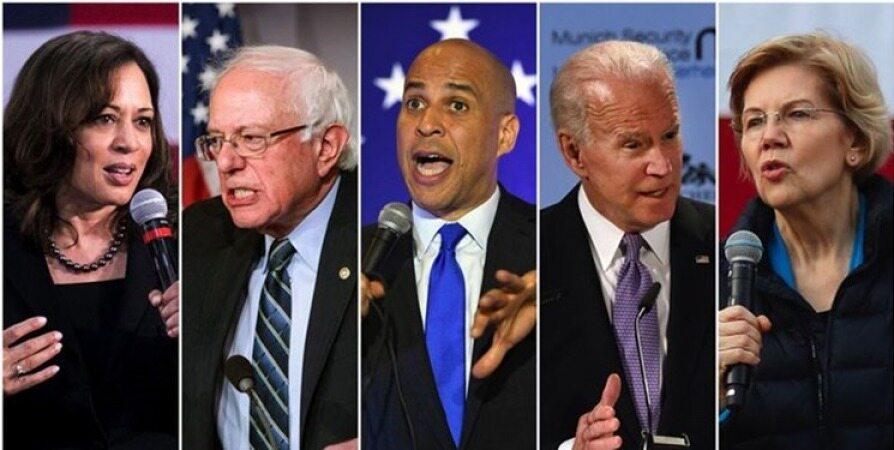 نامزدهای مطرح دموکرات در حمایت از اغتشاشات ایران، با ترامپ همنظرند