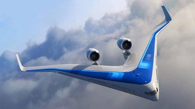 پرواز هواپیمای «وی» شکل برای اولین بار!