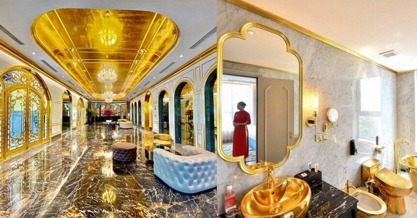 اولین هتل طلایی جهان از طلای ۲۴ عیار!