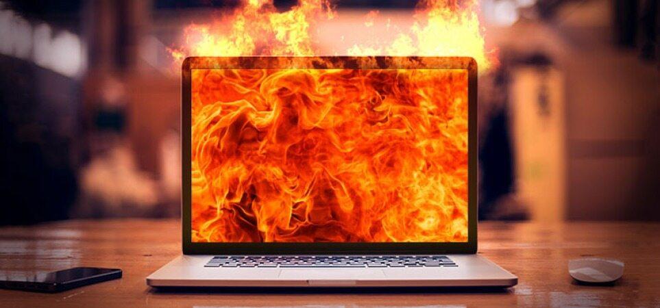 راهکاری برای رفع داغ شدن ناگهانی لپ تاپ/دمای نرمال لپ تاپ چقدر است؟